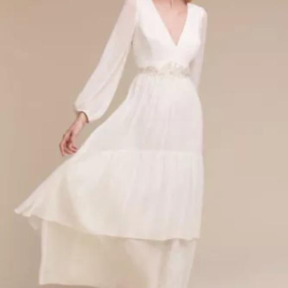 388088baa3e Bhldn Long Sleeve maxi Donna Morgan quince gown 2